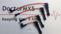 8mm HT Lead Set Mazda MX5 MK2, ORANGE Ignition / Spark Plug Lead Set 1.6 Eunos
